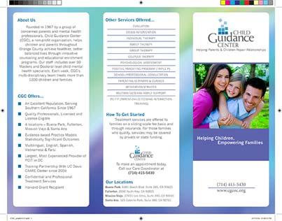 Front view of completed brochure