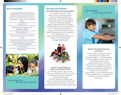 Back view of completed brochure