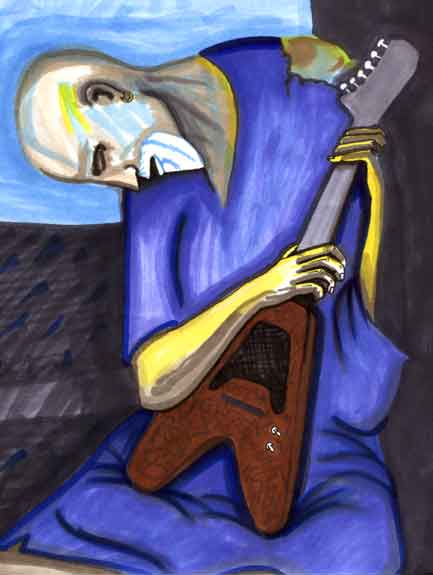 My interpretation of the Old Guitarist